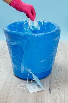 Gebrauchte medizinische schutzmasken