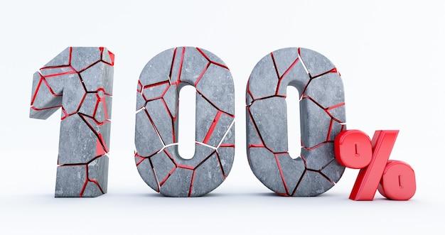 Gebrochen hundertprozentig (100%) isoliert, 100 hundertprozentig verkauft. bis zu 100%.