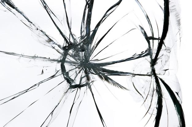 Gebrochene glasscherbenbeschaffenheit