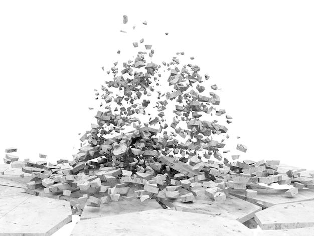 Gebrochener betonboden