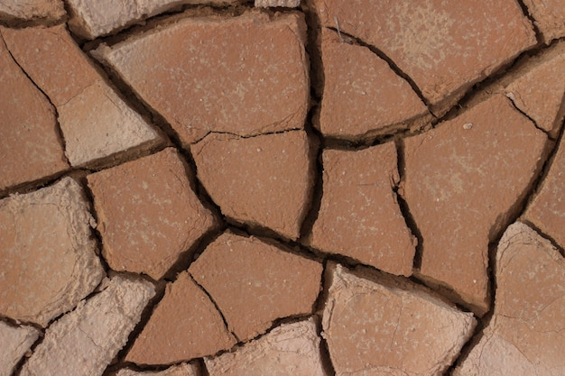 Gebrochener lehmbodenbeschaffenheitshintergrund