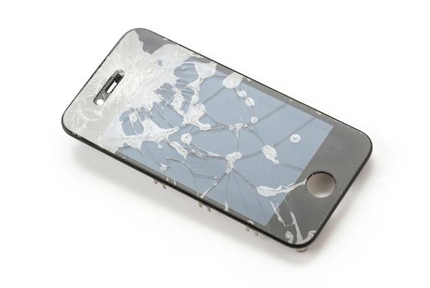 Gebrochener mobiler bildschirm