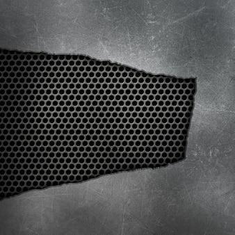 Gebrochener und gebrochener metallischer hintergrund der schmutzart