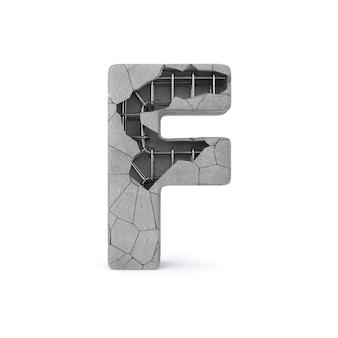 Gebrochenes konkretes alphabet f