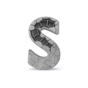 Gebrochenes konkretes alphabet s