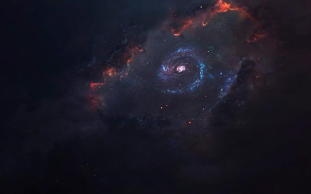 Geburt der galaxie, fantastische science-fiction-tapete, kosmische landschaft. elemente dieses bildes von der nasa geliefert