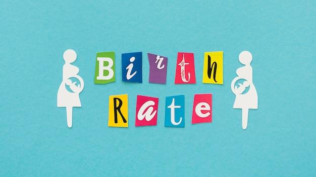 Geburtenrate fruchtbarkeitskonzept