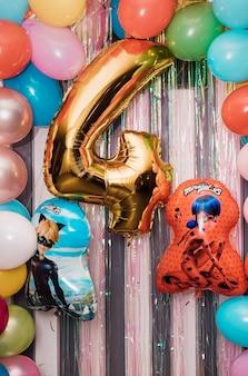 Geburtstagsballons marienkäfer und superkatze