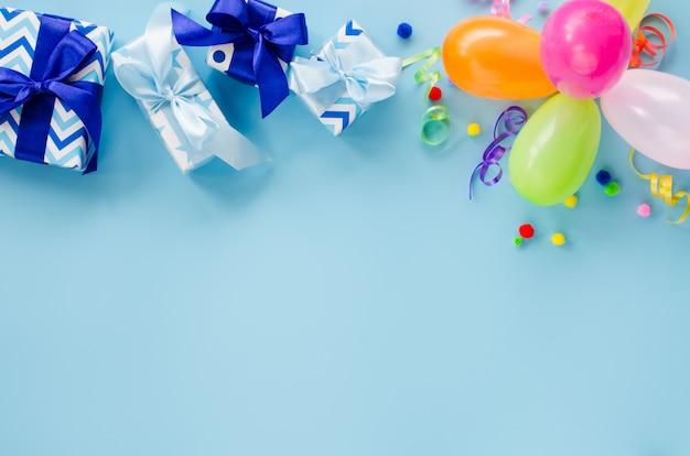 Geburtstagsdekoration und medizinische ausrüstung