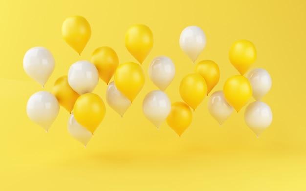 Geburtstagsfeierdekoration der ballone 3d