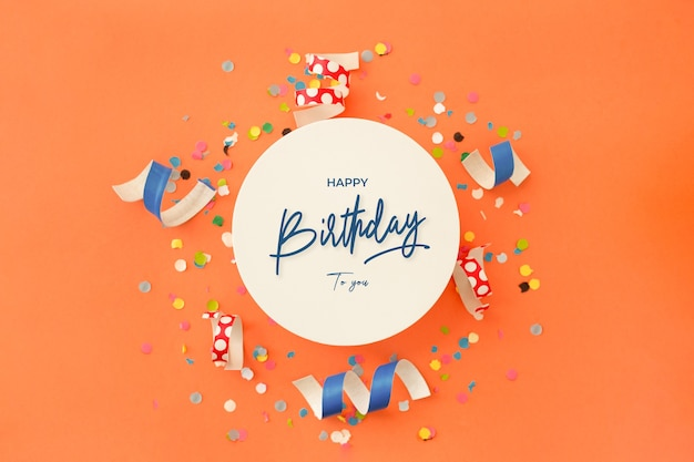 Geburtstagshintergrundeinladung