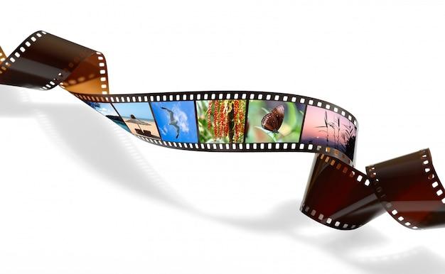 Gedrehter film für foto- oder videoaufnahmen