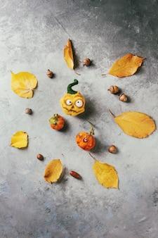 Gefilzter kürbis halloween-nadel