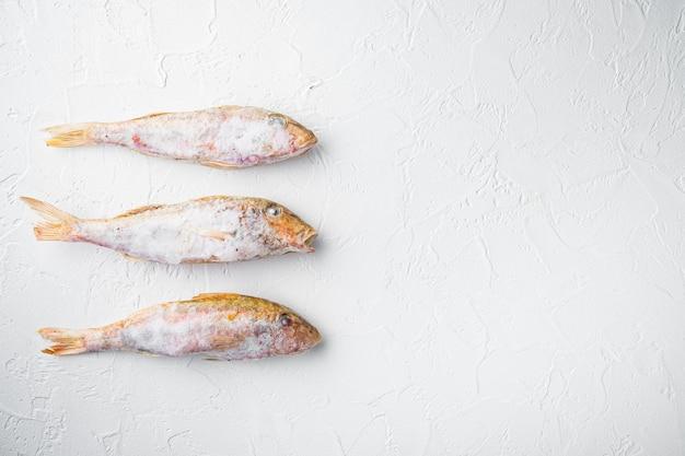 Gefrorene meeräsche oder sultaninka-fisch