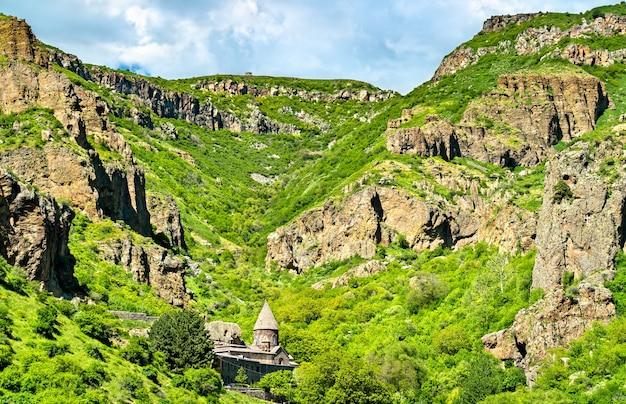Geghard, ein mittelalterliches kloster in der armenischen provinz kotayk