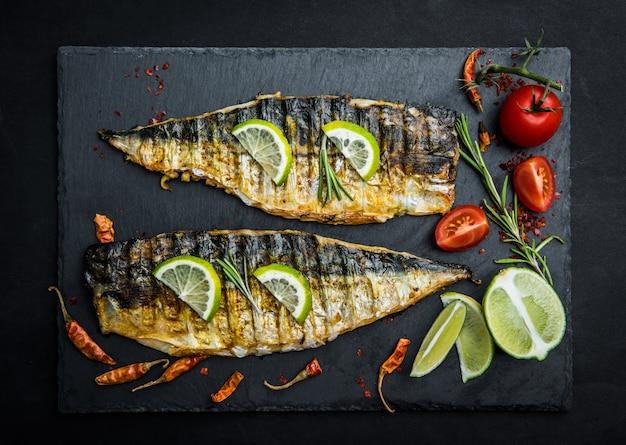 Gegrillte makrelenfilets