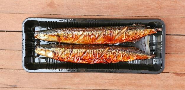 Gegrillte pazifische saury - sanma, japanische cuiseine