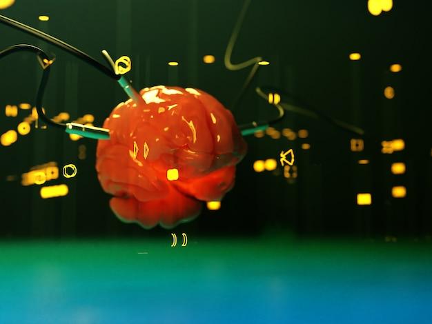 Gehirn mit verschiedenen damit verbundenen datschiks senden