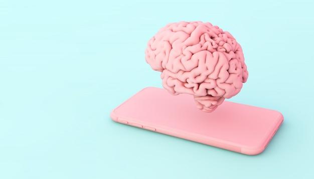 Gehirn und telefon