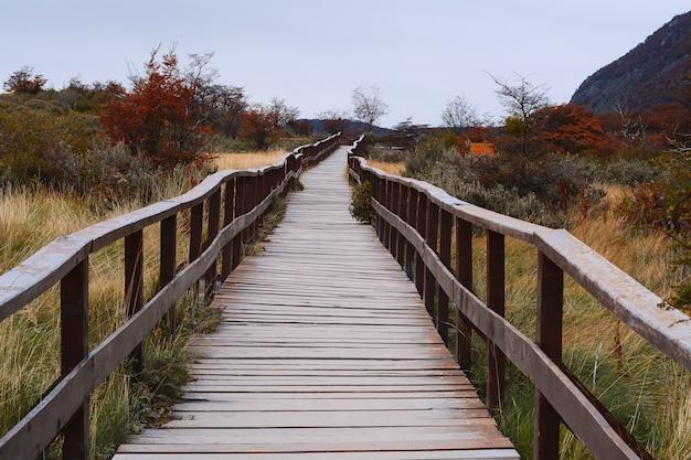 Gehweg im nationalpark, ushuaia.