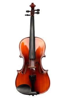Geige auf einem weißen