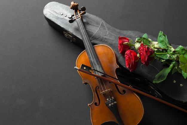 Geige und rose