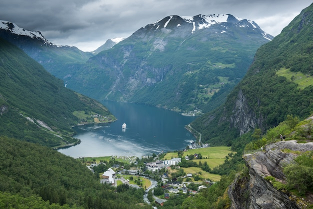 Geiranger, geirangerfjord, norwegen