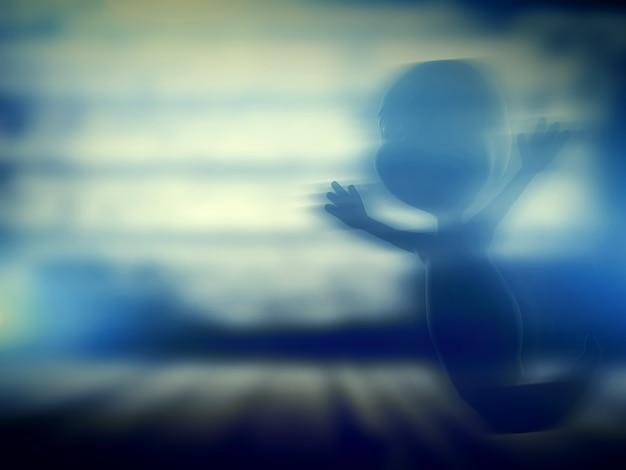 Geist mit unscharfen hintergrund