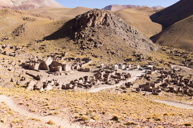 Geisterdorf im andenplateau,bolivia.abandoned mine.san antonio de lipez