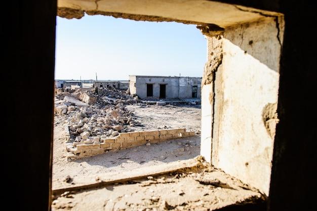 Geisterdorf - jazirat al hamra ras al khaimah - vereinigte arabische emirate Premium Fotos