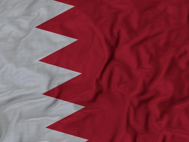Gekräuselte flagge von bahrain im wind wehen