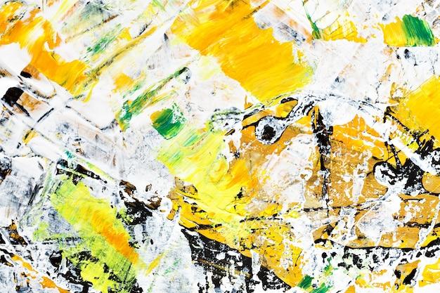 Gelb-orange pinselstriche. abstrakter hintergrund. gemalte textur