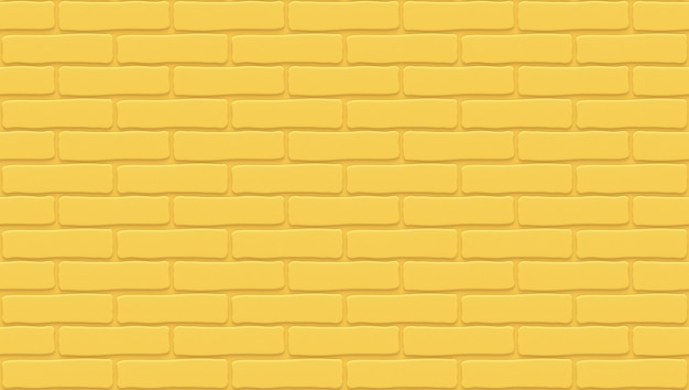 Gelbe backsteinmauerbeschaffenheit. leerer hintergrund. vintage steinmauer.