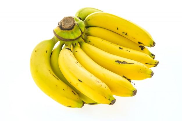 Gelbe banane und früchte