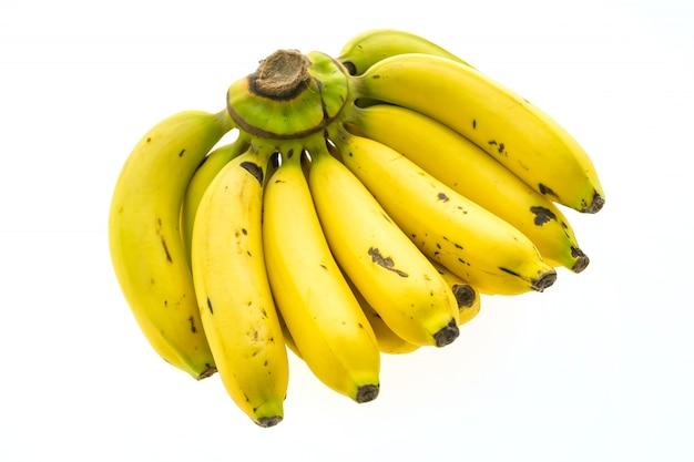 Gelbe banane und obst