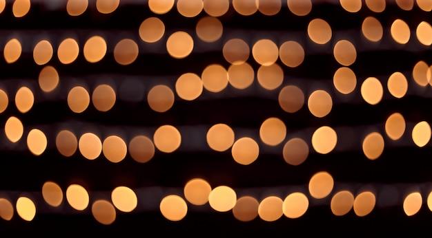 Gelbe bokeh-lichter