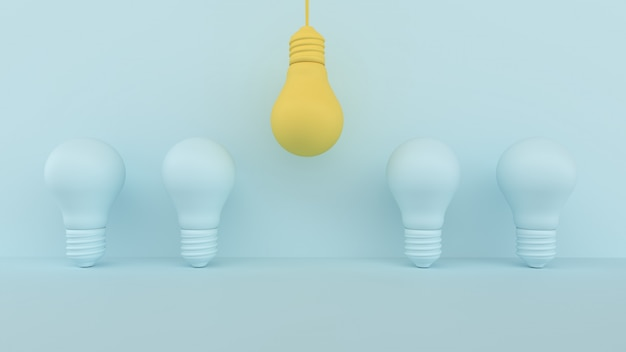 Gelbe glühbirne hervorragend
