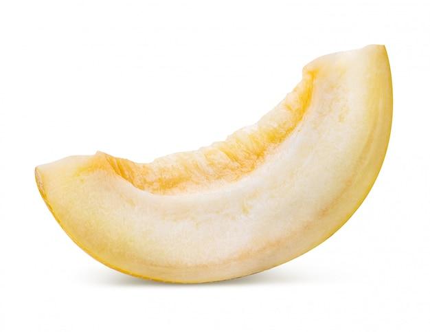 Gelbe melone isoliert. beschneidungspfad
