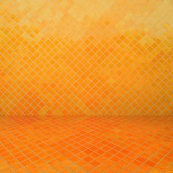 Gelbe mosaikbeschaffenheit und -hintergrund.