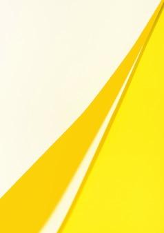Gelbe papierstruktur mit mehreren positionen