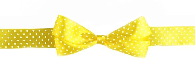 Gelbe schleife isoliert auf weiß