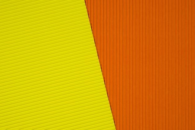 Gelbe und orange wellpappebeschaffenheit