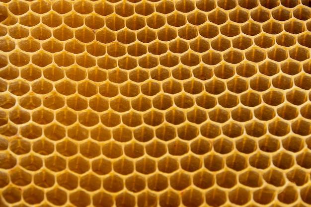 Gelbe wabentextur