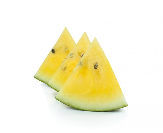 Gelbe wassermelone isoliert