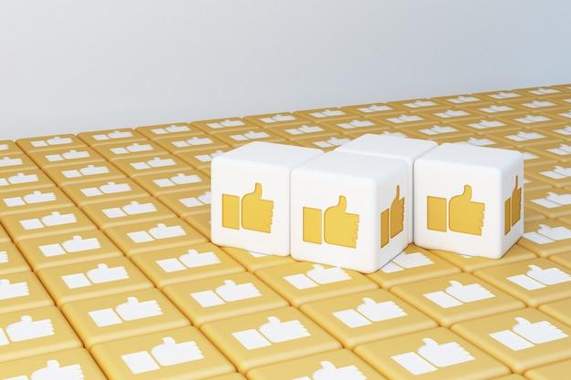 Gelbe wie symbol 3d box 3d-rendering