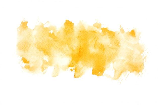 Gelber aquarellfleck mit farbschattierungen malen hintergrund