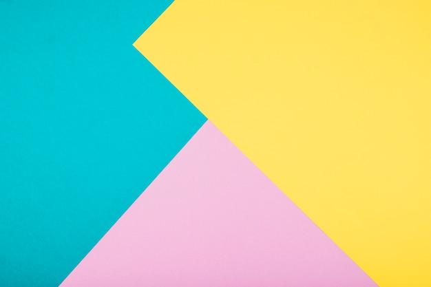 Gelber, blauer und rosa hintergrund