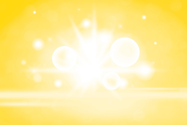 Gelber bokeh strukturierter einfacher produkthintergrund