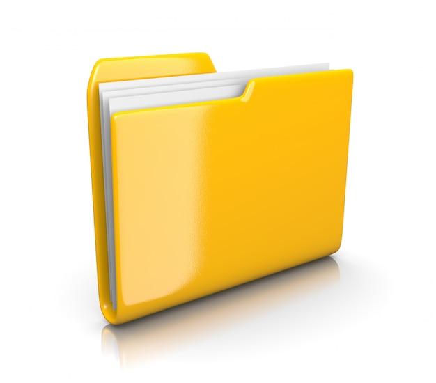 Gelber dokumentenordner