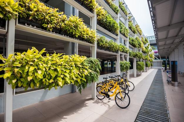 Gelber fahrradverleih in singapur